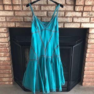 Top stitched summer dress